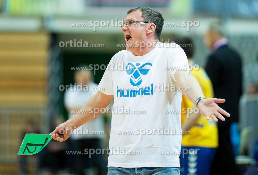 Zoran Jovicic, head coach of Koper during handball match between RK Koper 2013 and RK Gorenje Velenje in Semifinal of Slovenian Handball Cup 2015, on March 28, 2015 in Arena Bonifika, Koper, Slovenia. Photo by Vid Ponikvar / Sportida