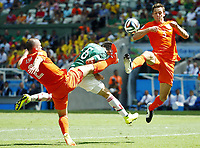 Fotball , 29. juni 2014 , Nederland - Mexico<br />