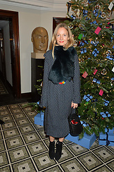 LONDON, ENGLAND 1 DECEMBER 2016: Martha Ward at the Smythson & Brown's Hotel Christmas Party held at Brown's Hotel, Albemarle St, Mayfair, London, England. 1 December 2016.