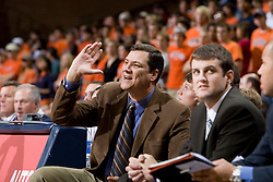 Virginia assistant coach Steve Seymour..The Virginia Cavaliers men's basketball team faced the Northwestern Wildcats at John Paul Jones Arena in Charlottesville, VA on November 27, 2007.