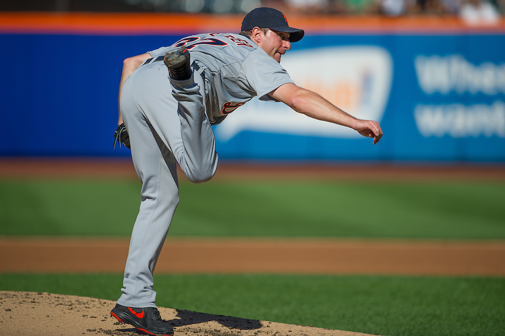 NEW YORK - AUGUST 24:  Max Scherzer #37 of the Detroit Tigers pitches during the game against the New York Mets at Citi Field on August 24, 2013 in the Queens borough of New York City. (Photo by Rob Tringali) *** Local Caption ***  Max Scherzer