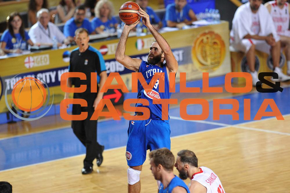 DESCRIZIONE : Tbilisi Nazionale Italia Uomini Tbilisi City Hall Cup Italia Italy Georgia Georgia<br /> GIOCATORE : Luigi Datome<br /> CATEGORIA : tiro<br /> SQUADRA : Italia Italy<br /> EVENTO : Tbilisi City Hall Cup<br /> GARA : Italia Italy Georgia Georgia<br /> DATA : 16/08/2015<br /> SPORT : Pallacanestro<br /> AUTORE : Agenzia Ciamillo-Castoria/A.Scaroni<br /> Galleria : FIP Nazionali 2015<br /> Fotonotizia : Tbilisi Nazionale Italia Uomini Tbilisi City Hall Cup Italia Italy Georgia Georgia