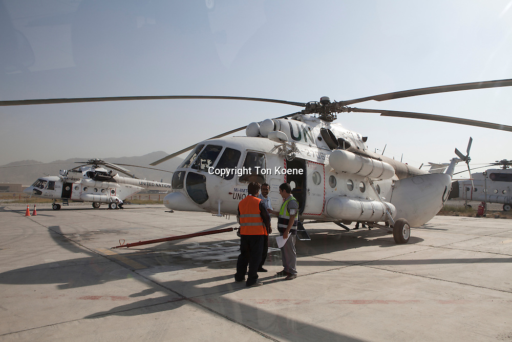 UN helicopter service in Afghanistan