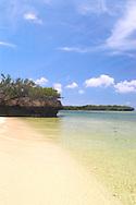 Aldabra Atoll, The Seychelles<br /> 'Champignon' rock formation and<br /> beach<br /> c. Ellen Rooney