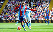Jason Puncheon controlling the loose ball during the Barclays Premier League match between Crystal Palace and Manchester City at Selhurst Park, London, England on 12 September 2015. Photo by Michael Hulf.