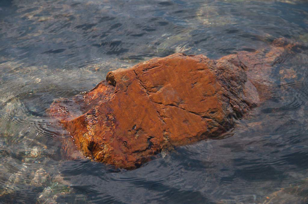 Partially Submerged Rock, Lower Negro Island, Castine, Maine, US