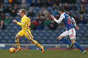 MK Dons midfielder, on loan from Crystal Palace, Jonny Williams (23)  during the Sky Bet Championship match between Blackburn Rovers and Milton Keynes Dons at Ewood Park, Blackburn, England on 27 February 2016. Photo by Simon Davies.