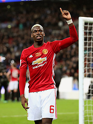 Paul Pogba of Manchester United celebrates - Mandatory by-line: Matt McNulty/JMP - 26/02/2017 - FOOTBALL - Wembley Stadium - London, England - Manchester United v Southampton - EFL Cup Final