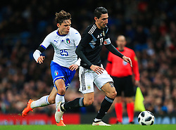Angel di Maria of Argentina takes on Federico Chiesa of Italy - Mandatory by-line: Matt McNulty/JMP - 23/03/2018 - FOOTBALL - Etihad Stadium - Manchester, England - Argentina v Italy - International Friendly