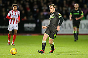 Forest Green Rovers Dayle Grubb(8) passes the ball forward during the EFL Sky Bet League 2 match between Cheltenham Town and Forest Green Rovers at Jonny Rocks Stadium, Cheltenham, England on 29 December 2018.