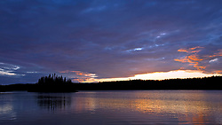 Tobin Harbor at sunset, Isle Royale National Park, Michigan, United States of America