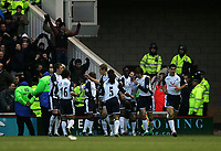 Photo: Andrew Unwin.<br /> Middlesbrough v Tottenham Hotspur. The Barclays Premiership. 18/12/2005.<br /> Tottenham celebrate Mido's goal, their third and the final equaliser.