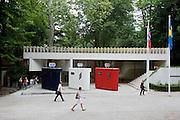 "Norwegian contribution ""Liberte"", 2005 by lars Ramberg (3 toilets, mixed media)"