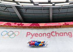 07.02.2018, Olympic Sliding Centre, Pyeongchang, KOR, PyeongChang 2018, Rodeln, Training, im Bild Andrei Turea (ROU) // Andrei Turea of Romania during the Luge Training of the Pyeongchang 2018 Winter Olympic Games at the Olympic Sliding Centre in Pyeongchang, South Korea on 2018/02/07. EXPA Pictures © 2018, PhotoCredit: EXPA/ Johann Groder