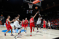 United States´s Harden and Davis and Serbia´s Bjelica and Katic during FIBA Basketball World Cup Spain 2014 final match between United States and Serbia at `Palacio de los deportes´ stadium in Madrid, Spain. September 14, 2014. (ALTERPHOTOSVictor Blanco)