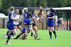 Lucy Attwood of Bristol Bears Women is tackled - Mandatory by-line: Paul Knight/JMP - 02/09/2018 - RUGBY - Shaftsbury Park - Bristol, England - Bristol Bears Women v Dragons Women - Pre-season friendly