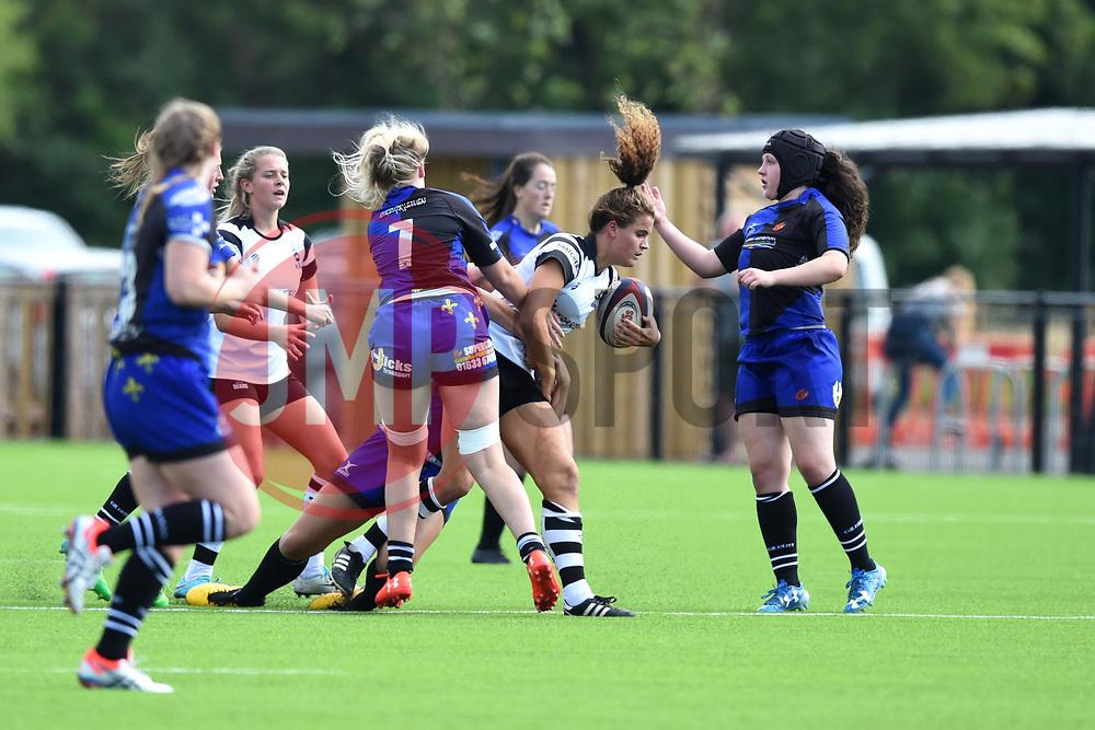 Lucy Attwood of Bristol Bears Women is tackled - Mandatory by-line: Paul Knight/JMP - 02/09/2018 - RUGBY - Shaftsbury Park - Bristol, England - Bristol Bears Women v Dragons Women - Pre-season friendly