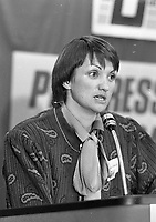 Progressive Democrats Candidates for Dublin South, Anne Colley daughter of the late TD George Colley at the convention in the IMI Sandyford, 15/10/1986 (Part of the Independent Newspapers Ireland/NLI Collection).