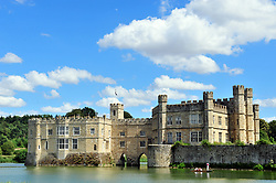 &copy; Licensed to London News Pictures. 31/07/2018<br /> LEEDS, UK.<br /> Blue sky and sunny weather at Leeds castle in Kent.<br /> Photo credit: Grant Falvey/LNP