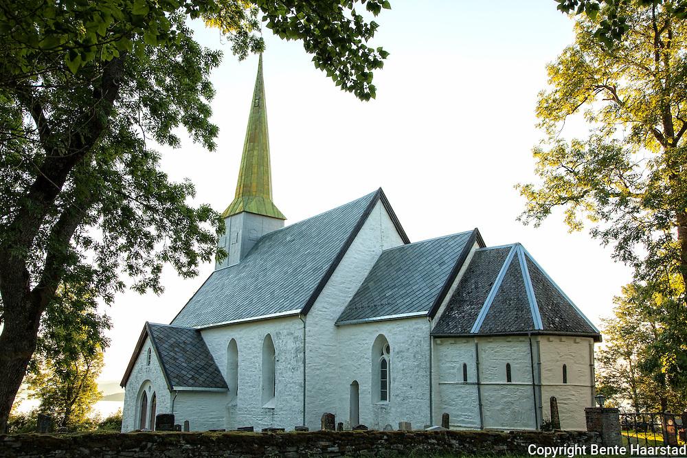 Alstadhaug kirke, Skogn i Levanger, Nord-Trøndelag. Middelalderkirke bygget cirka 1140-1170.
