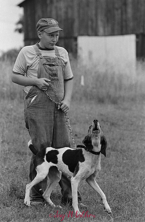 Coon dog swap meet.  1978.  Location not known; likely in central KY.