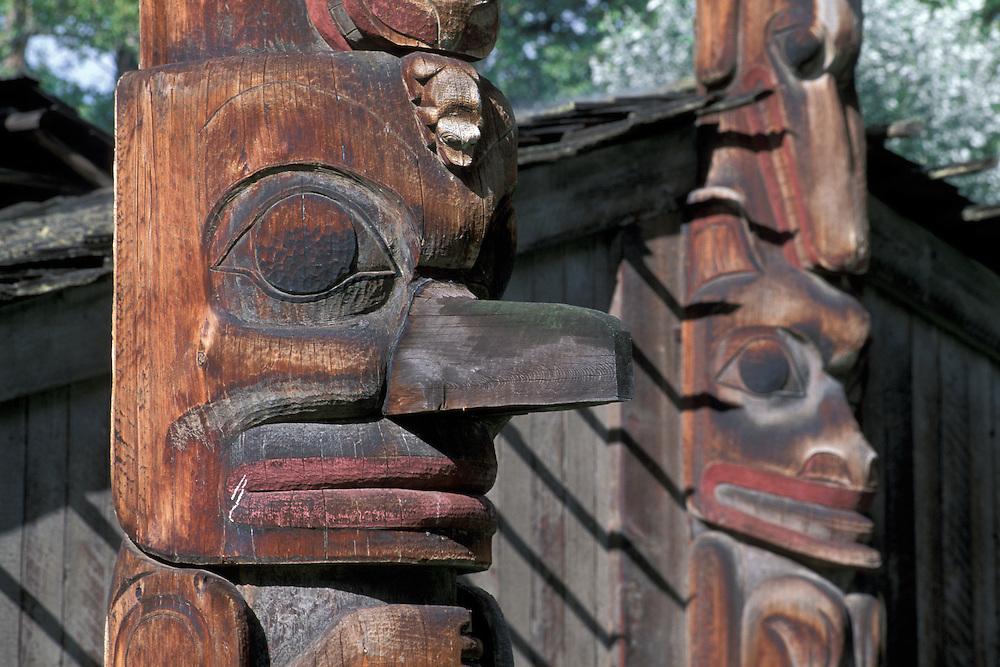 Totem Pole,Ksan Village, Hazelton, British Columbia, Canada