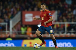 March 23, 2019 - Valencia, Valencia, Spain - Dani Ceballos of Spain controls the ball during the 2020 UEFA European Championships group F qualifying match between Spain and Norway at Estadi de Mestalla on March 23, 2019 in Valencia, Spain. (Credit Image: © Jose Breton/NurPhoto via ZUMA Press)
