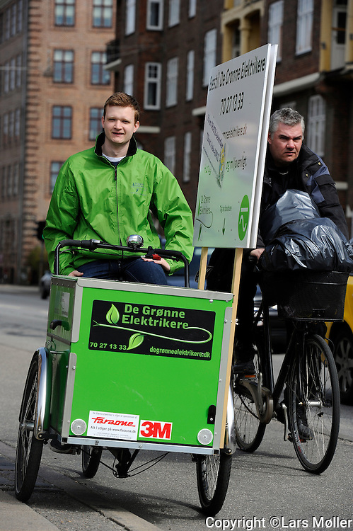 DK:<br /> 20100428, K&oslash;benhavn, Danmark.<br /> Kim Pedersen fra de gr&oslash;nne elektrikere<br /> Foto: Lars M&oslash;ller<br /> UK: <br /> 20100428, Copenhagen, Danmark.<br /> Kim Pedersen from the green Electricians<br /> Photo: Lars Moeller