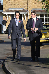 Ed Miliband MP, Leader of the Opposition with candidate Andy Sawford, Great Oakley, Corby, Northamptonshire October 30, 2012.  Photo By Tim Scrivener / i-Images