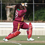 Cordel Jack batting during the West Indies V New Zealand group A match at Bankstown Oval  in the ICC Women's World Cup Cricket Tournament, in Sydney, Australia on March 10, 2009. New Zealand won by 56 runs. Photo Tim Clayton