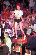Dancer on the podium at Cream, Ibiza 1999