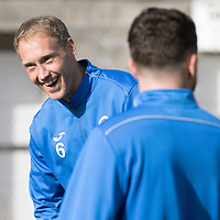 St Johnstone Training….30.09.16<br />Steven Anderson pictured during training this morning<br />Picture by Graeme Hart.<br />Copyright Perthshire Picture Agency<br />Tel: 01738 623350  Mobile: 07990 594431