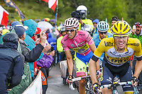 Kruijswijk Steven / Contador Alberto - Lotto NL Jumbo / Tinkoff Saxo - 26.05.2015 - Tour d'Italie - Etape 16 - Pinzolo / Aprica<br />