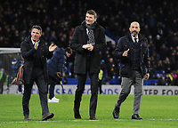 Football - 2017 / 2018 Premier League - Chelsea vs. West Bromwich Albion<br /> <br /> Ex Chelsea players on the pitch, at Stamford Bridge.<br /> l-r Gianfranco Zola, Torre Andrea Flo and Gianluca Vialli<br /> <br /> COLORSPORT/ANDREW COWIE