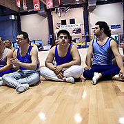 Italy, Biella- XVIII Special Olympics National Games for mentally disabled people: the athlets waiting their turn for a gymnastic competition ©2012 Mama2