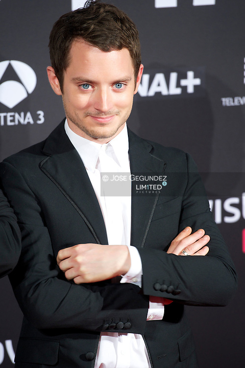 Elijah Wood attends 'Grand Piano' premiere at Capitol Cinema on October 14, 2013 in Madrid, Spain.