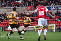Photo: Alan Crowhurst.<br />Swindon Town v Boston Utd. The FA Cup. 05/11/2005.<br />Boston's Stewart Talbot (C) scores the second goal.