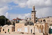 Israel, Jerusalem, Haram esh Sharif (Temple Mount) The minaret of the Women's mosque