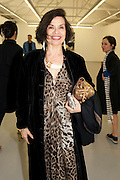 BIANCA JAGGER, David Salle private view at the Maureen Paley Gallery. 21 Herlad St. London. E2. <br /> <br />  , -DO NOT ARCHIVE-&copy; Copyright Photograph by Dafydd Jones. 248 Clapham Rd. London SW9 0PZ. Tel 0207 820 0771. www.dafjones.com.