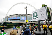 Plymouth Argyle Fan Space before the Sky Bet League 2 play off final match between AFC Wimbledon and Plymouth Argyle at Wembley Stadium, London, England on 30 May 2016. Photo by Graham Hunt.