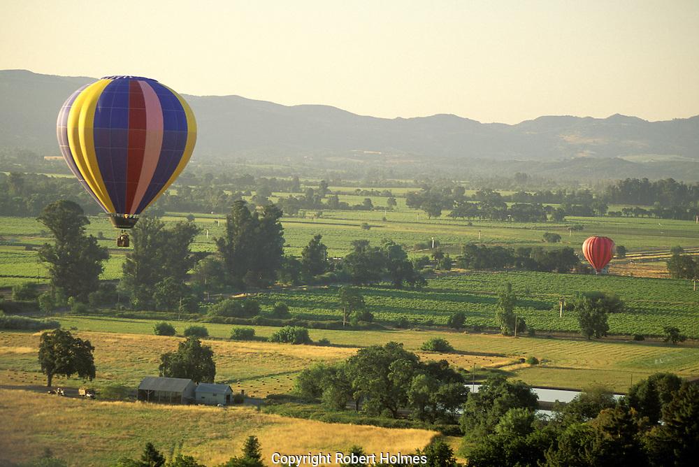 Ballooning over Napa Valley, California