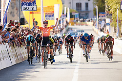 Marianne Vos (NED) wins sprint finish at Trofeo Alfredo Binda 2019, a 131.1 km road race from Taino to Cittiglio, Italy on March 24, 2019. Photo by Sean Robinson/velofocus.com