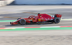 March 6, 2018 - Barcelona, Spain - Testvecka 2, Formel 1, Barcelona ..Sebastian Vettel, Ferrari (Credit Image: © JerrevÃ…Ng Stefan/Aftonbladet/IBL via ZUMA Wire)
