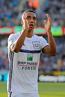 MAY 14 : Youri Tielemans midfielder of RSC Anderlecht during the Jupiler Pro League play-off 1 match between Club Brugge and RSC Anderlecht on May 14, 2017 <br /> <br /> Norway only