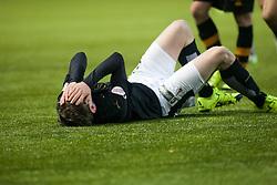 Falkirk's Blair Alston hurt. <br /> Falkirk 5 v 0 Alloa Athletic, Scottish Championship game played at The Falkirk Stadium. &copy; Ross Schofield