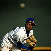 20060322 - TAMPA - Jefferson starting pitcher Devonte Alexander delivers to the plate in their 12-8 quarterfinal loss to Hillsborough.<br /> STORY SUMMARY - Saladino Baseball Tournament, for daily coverage and web gallery.<br /> (Times photo by Brian Cassella)
