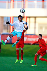 KIRKBY, ENGLAND - Friday, March 31, 2017: West Ham United's Jahmal Hector-Ingram in action against Liverpool during an Under-18 FA Premier League Merit Group A match at the Kirkby Academy. (Pic by David Rawcliffe/Propaganda)
