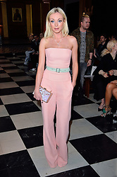 © Licensed to London News Pictures. 19/02/2016. HELEN GEORGE attends the Bora Aksu Autumn/Winter 2016 show. Models, buyers, celebrities and the stylish descend upon London Fashion Week for the Autumn/Winters 2016 clothes collection shows. London, UK. Photo credit: Ray Tang/LNP