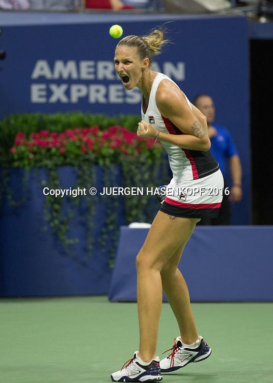 KAROLINA PLISKOVA (CZE)<br /> <br /> Tennis - US Open 2016 - Grand Slam ITF / ATP / WTA -  USTA Billie Jean King National Tennis Center - New York - New York - USA  - 8 September 2016.