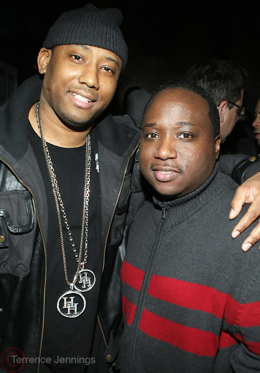 l to r: Maino and Sydney Margretson at The Vibe Magazine private reception in honor of Grammy Award winning Superstar artist and actor, T.I held at The Eldrige on February 9, 2009 in New York City